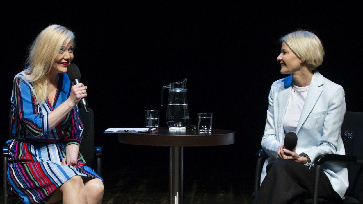 """Małgorzata Kożuchowska  zagrała w Teatrze Telewizji w wielu spektaklach. Jednym z nich była sztuka """"Wojna, moja miłość"""", w której wcieliła się w rolę jednej z najwybitniejszych kobiet szpiegów II wojny światowej, Krystyny Skarbek  (fot. N. Młudzik/TVP)"""