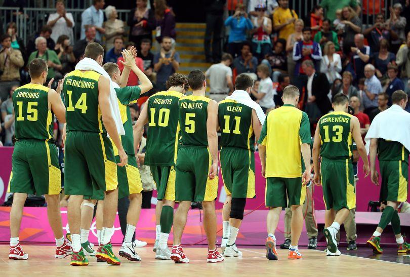 Litwini przegrali już drugi mecz w turnieju olimpijskim (fot. Getty Images)