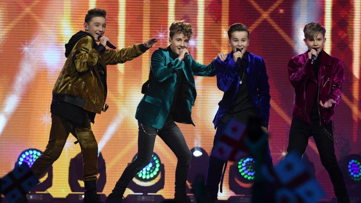 Występ holenderskiego kwartetu Fource zelektryzował dziewczęcą część publiczności (fot. Getty Images)