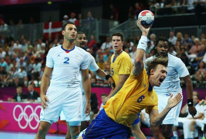 Finałowe spotkanie turnieju olimpijskiego między Szwecją i Francją (fot. Getty Images)