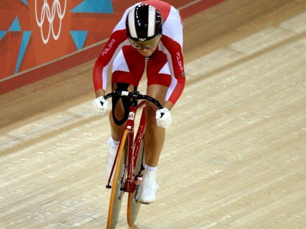 Małgorzata Wojtyra na kolarskim welodromie w Londynie (fot. Getty Images)