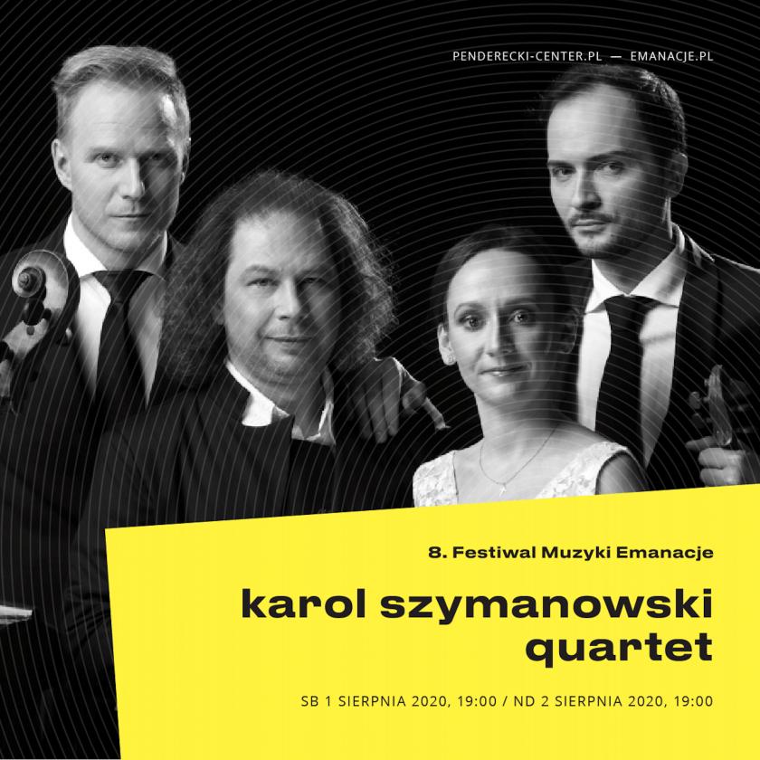Festiwal Emanacje 2020 - koncert Karol Szymanowski Quartet