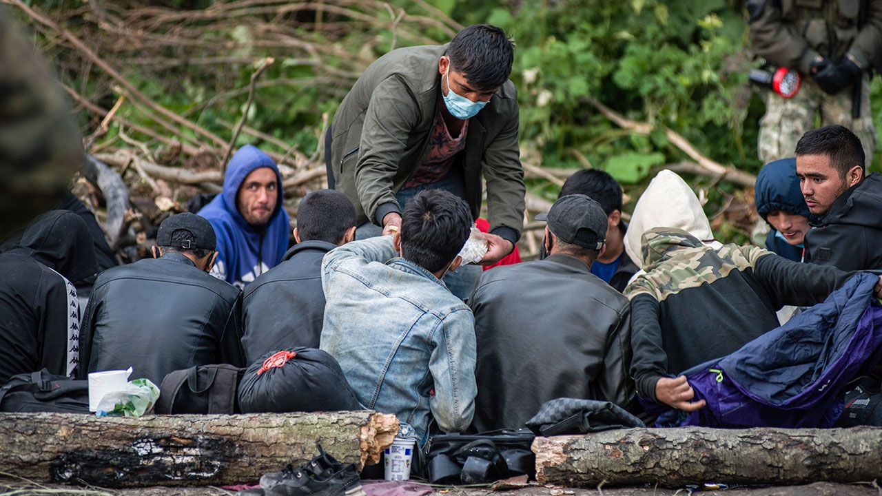 Minionej nocy zatrzymano grupę imigrantów (fot. A.Husejnow/SOPA/LightRocket/Getty Images)