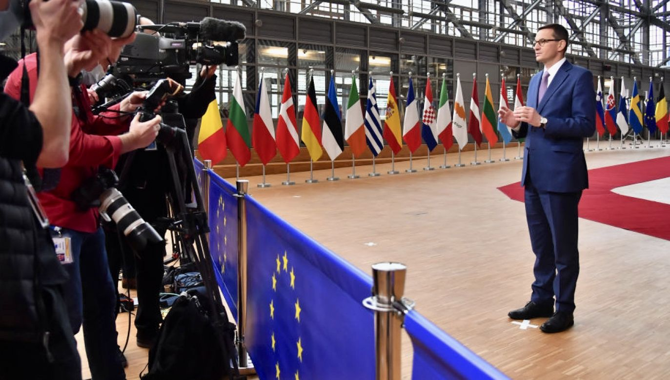"""Politico"" dostrzegło ważny głos premiera Mateusza Morawieckiego (fot. Geert Vanden Wijngaert/Bloomberg via Getty Images]"