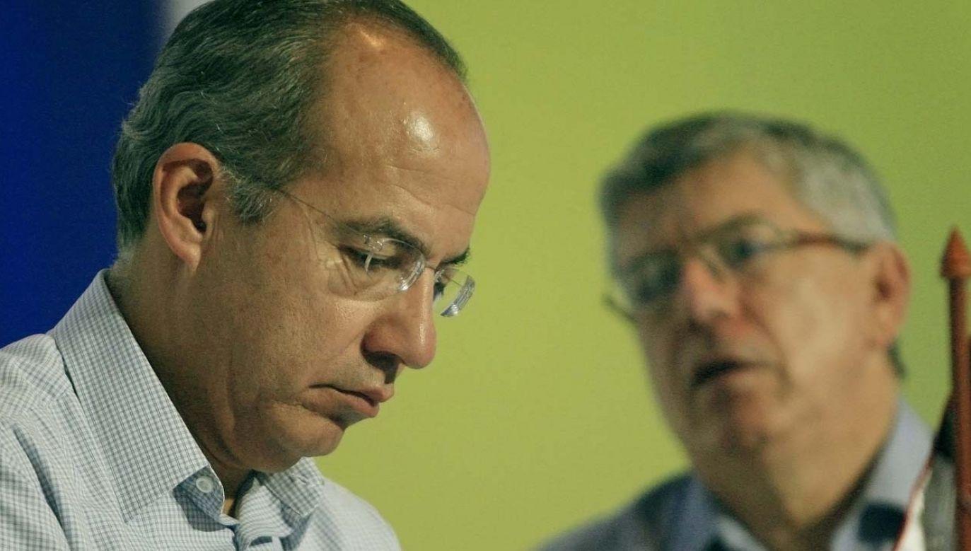 Były prezydent Meksyku Felipe Calderon miał utrzymywać kontakty z kartelami narkotykowymi (fot. arch.PAP/EPA/Ricardo Maldonado Rozo)