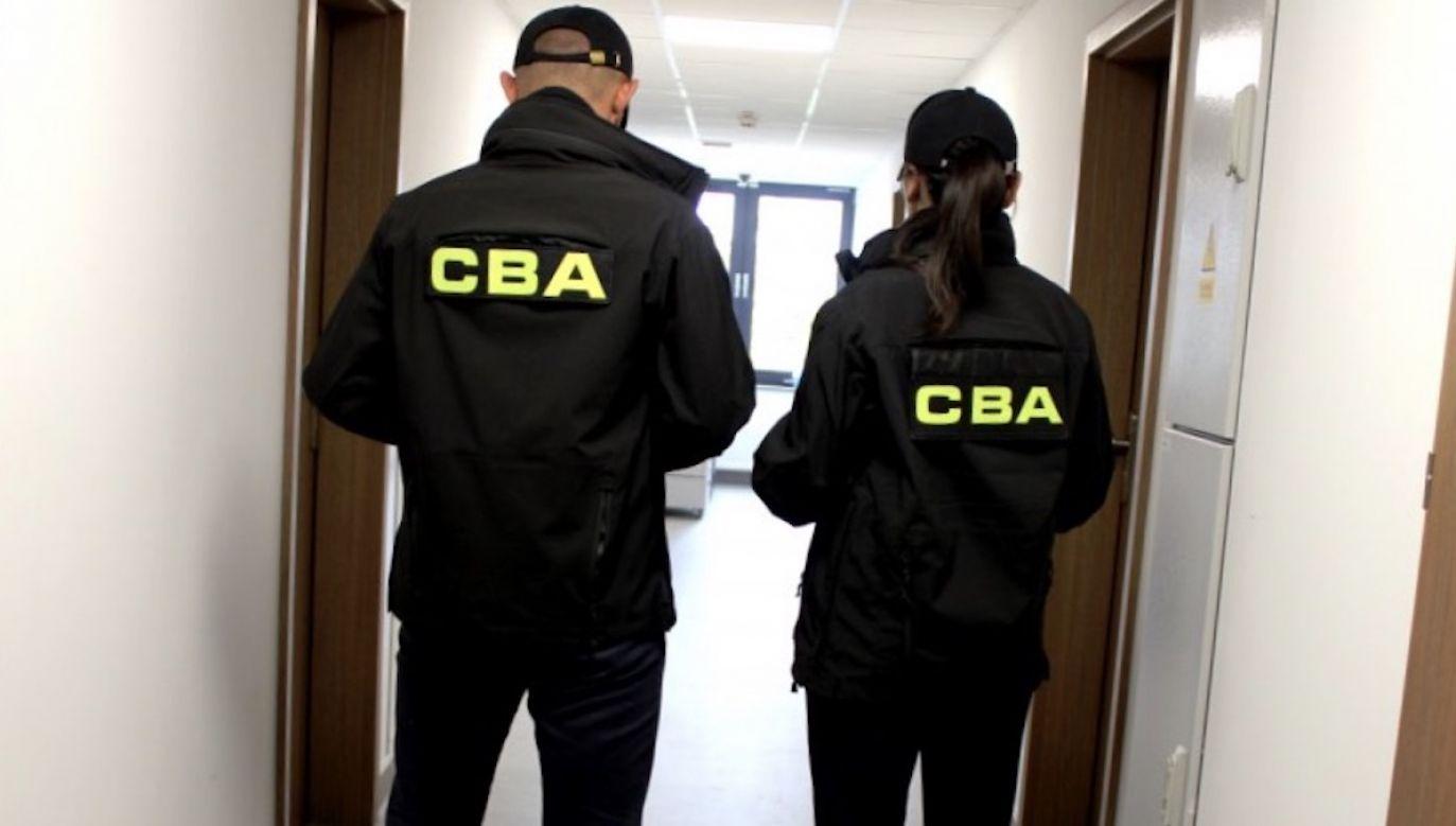 To nie pierwszy raz, kiedy Sz. został zatrzymany przez CBA (fot. CBA)