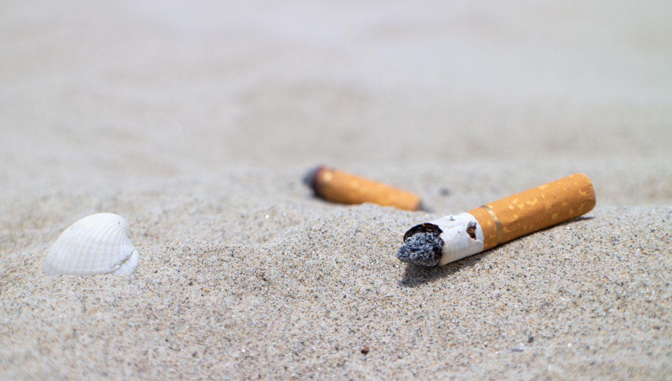Za palenie papierosów na sardyńskiej plaży grożą kary finansowe (fot. Shutterstock)