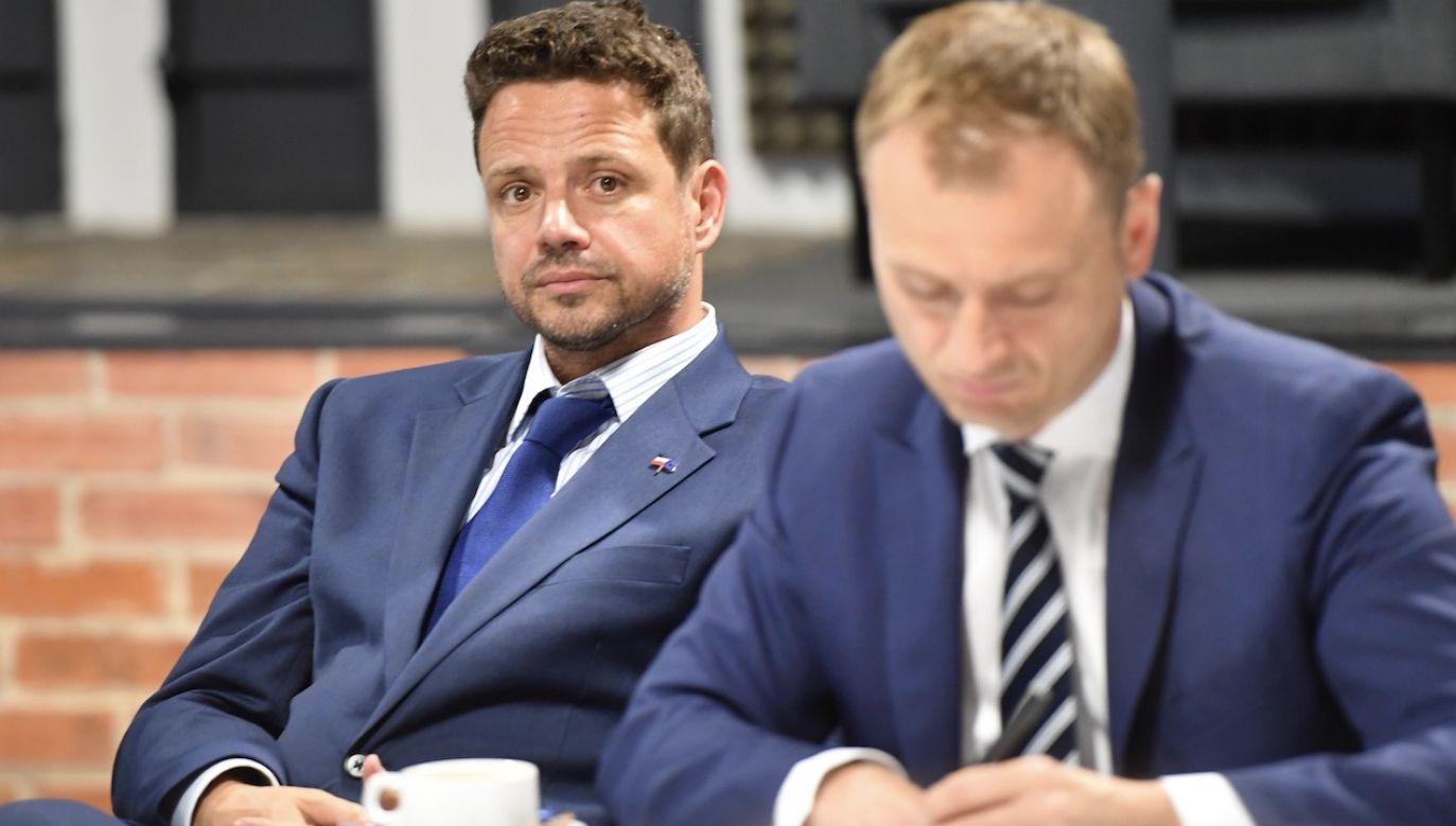 Poseł, o którym mówił kandydat KO, jest znany ze stosowania agresji wobec przeciwników (fot. arch.PAP/Marcin Bielecki)