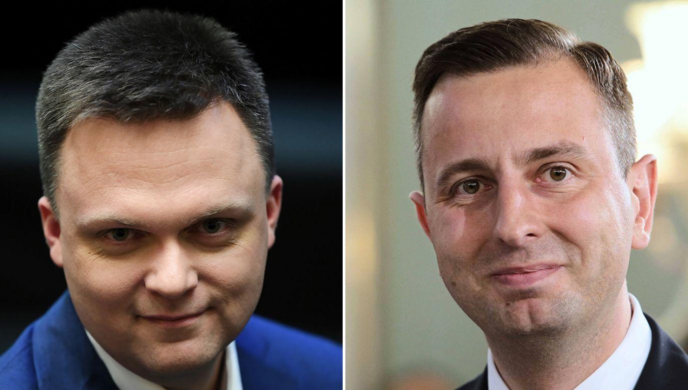 W TVP 1 o wyborach prezydenckich (fot. PAP/ Adam Warżawa, arch.PAP/Leszek Szymański)