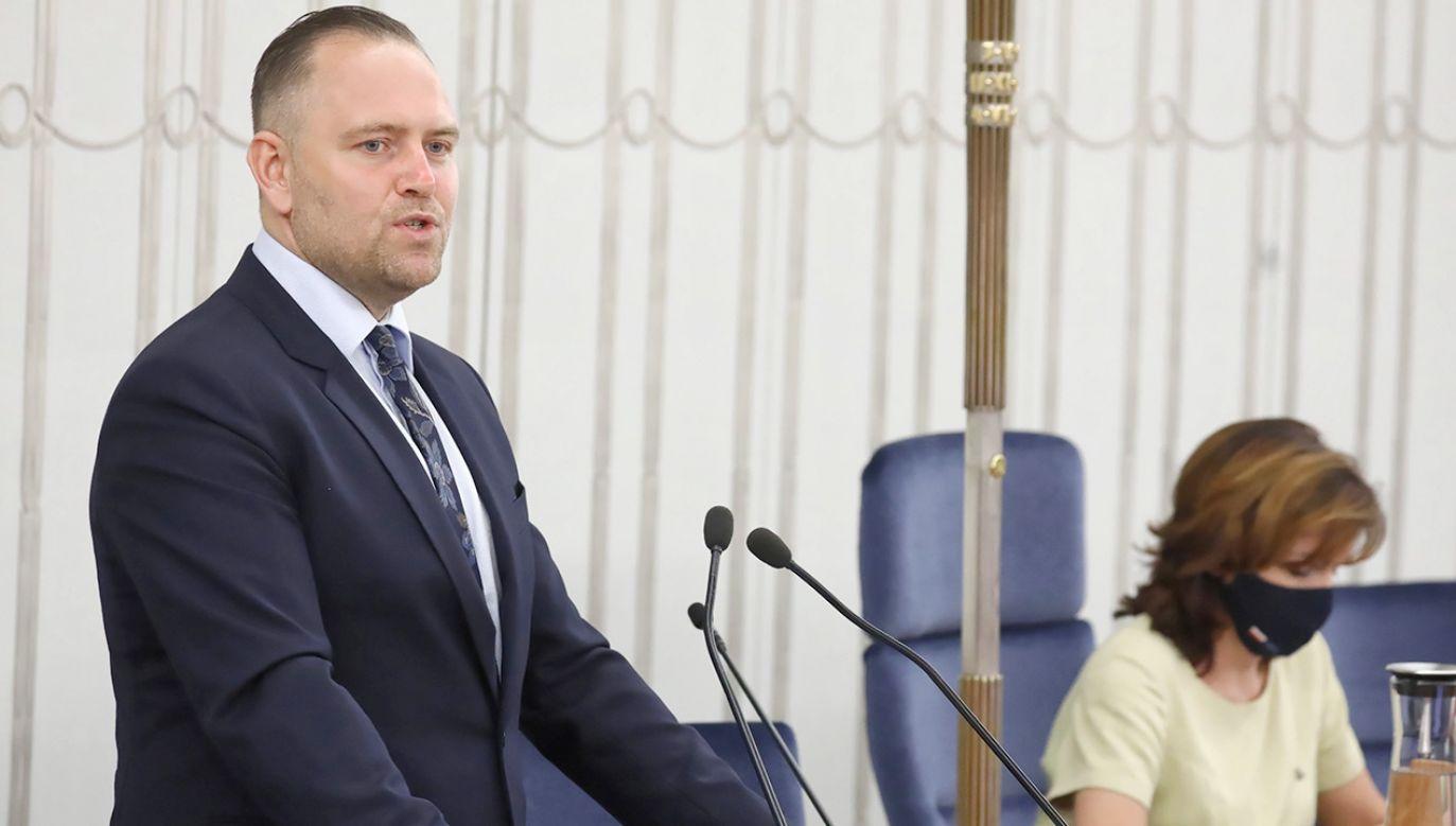 Sejm pod koniec maja powołał dr. Karola Nawrockiego na prezesa IPN (fot. PAP/Tomasz Gzell)