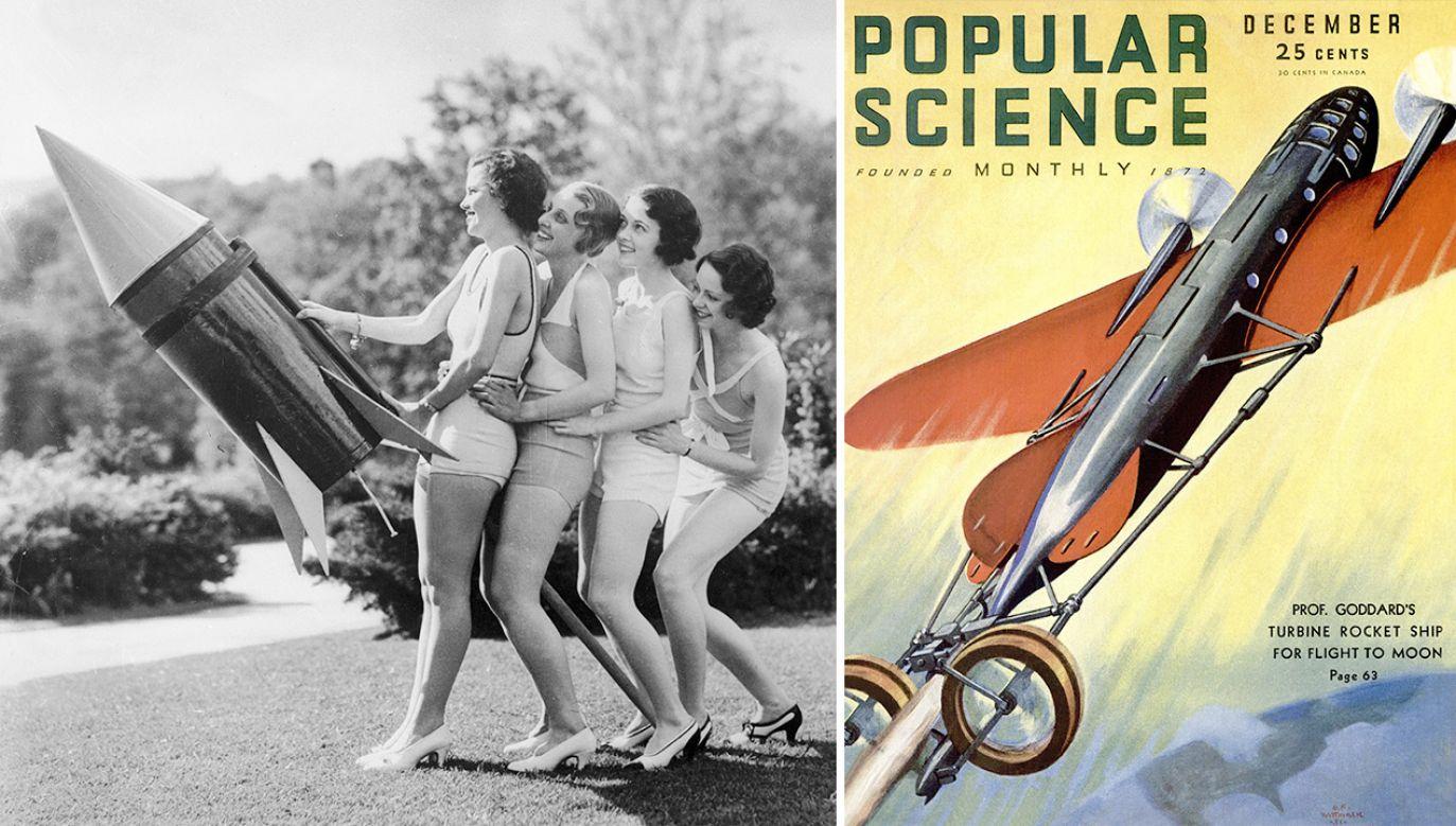 Jak wyobrażano sobie nasze czasy? (fot. General Photographic Agency/Getty Images; Popular Science via Getty Images; zdjęcie ilustracyjne)
