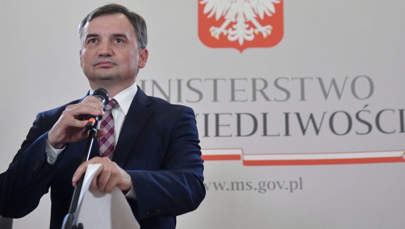 """Czarnek mówił, że """"należy spodziewać się, że pan minister Zbigniew Ziobro dalej będzie ministrem sprawiedliwości""""(fot. PAP/Radek Pietruszka)"""