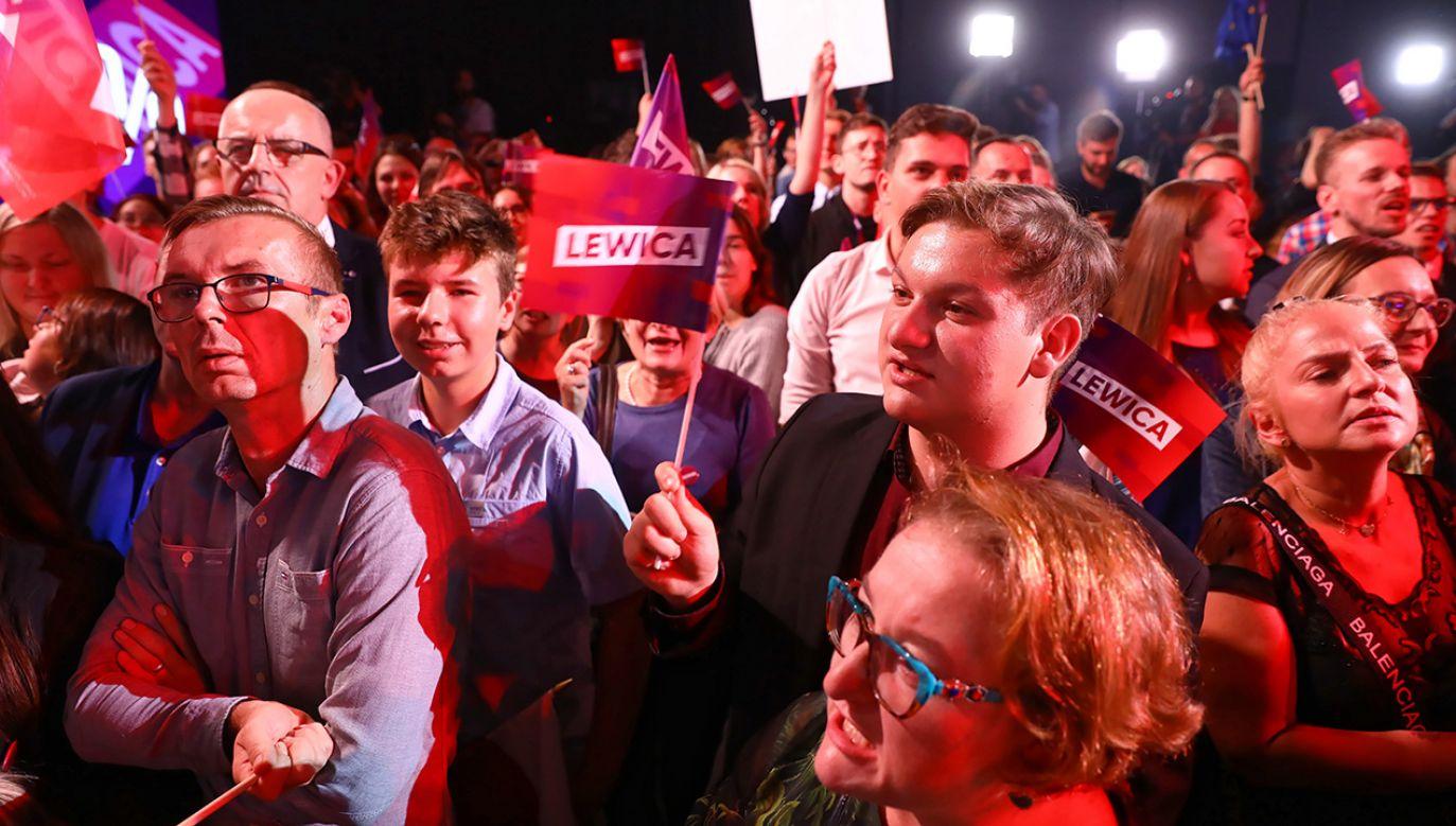 KW SLD zdobyła 11,9 proc. – wynika z sondażu exit poll (fot. PAP/Rafał Guz)