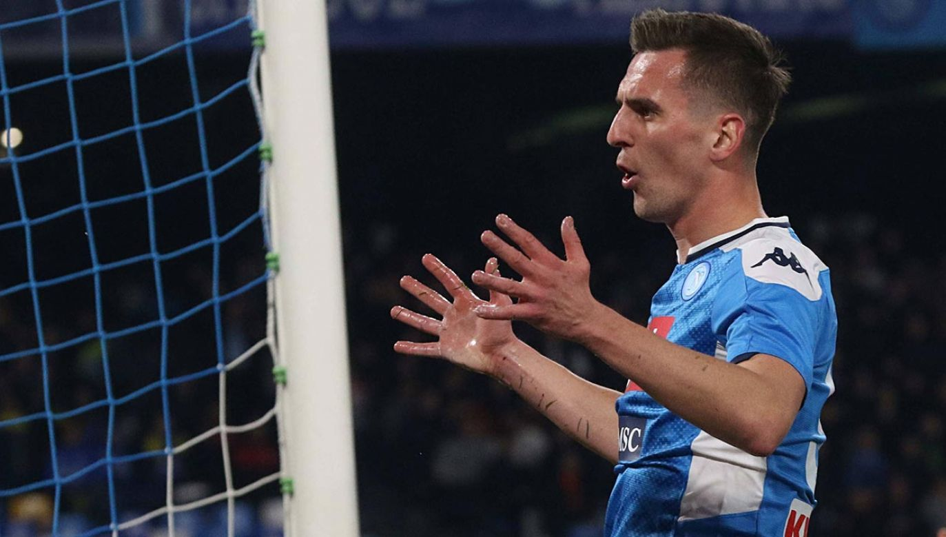 Arkadiusz Milik jest piłkarzem Napoli od 2016 roku (fot. PAP/EPA/CIRO FUSCO )