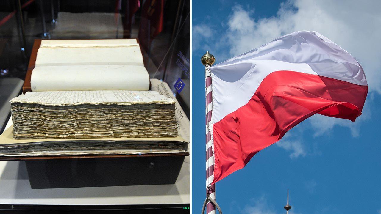 Konstytucja 3 maja ustanowiona została 230 lat temu (fot. PAP/Marcin Bielecki, Tytus Żmijewski)