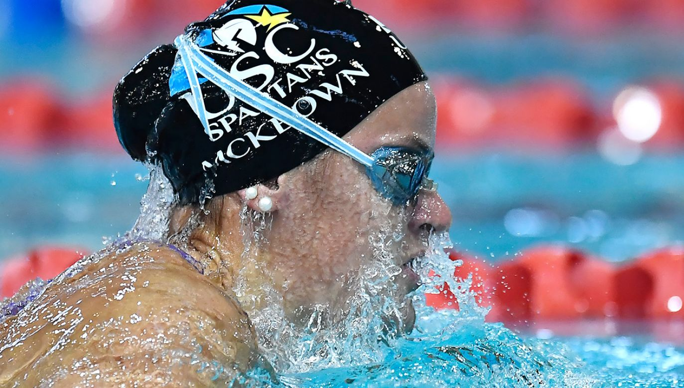 Australijka Kaylee McKeown poprawiła pływacki rekord świata (fot. Albert Perez/Getty Images)