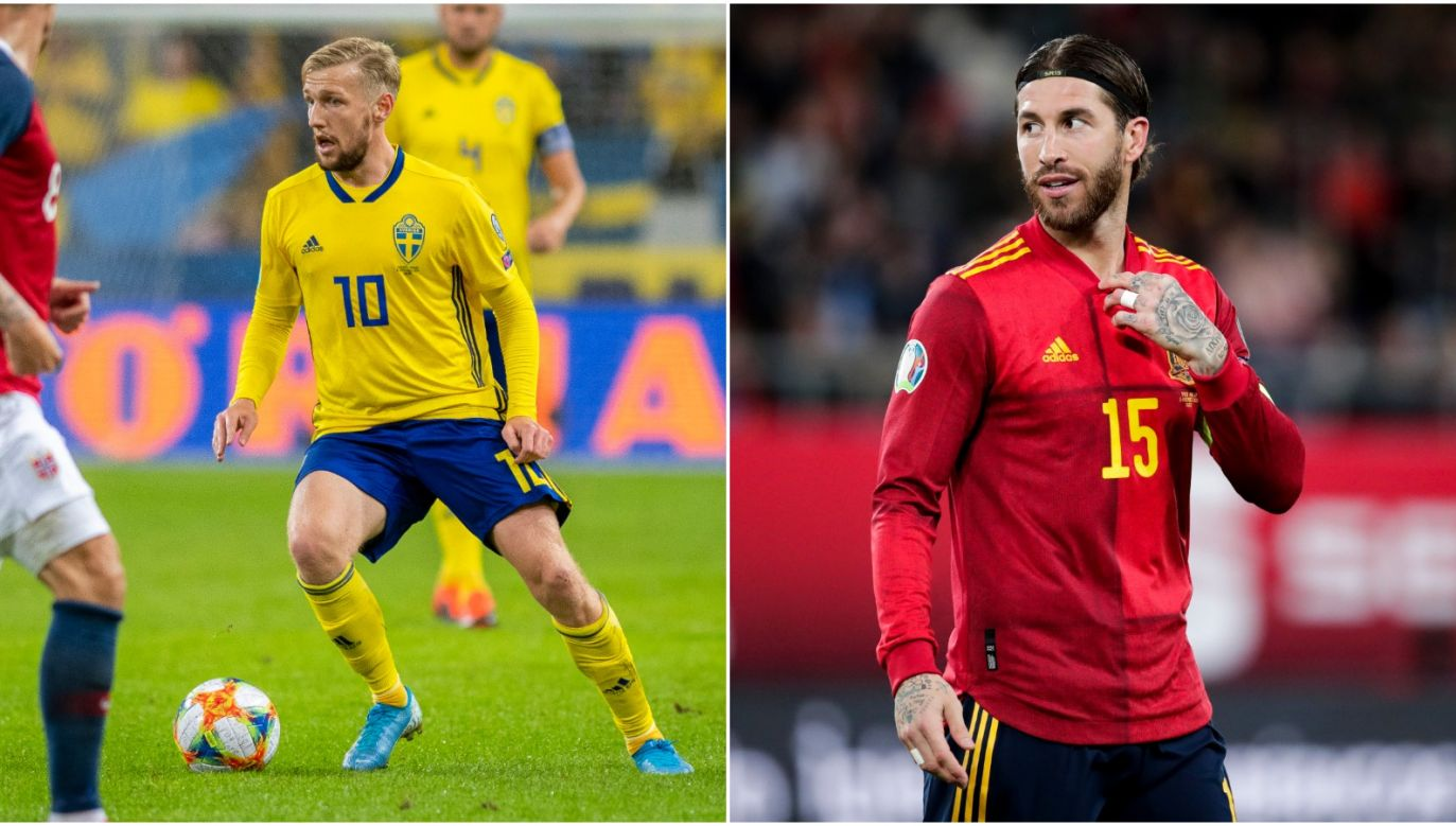 Emil Forsberg (L) i Sergio Ramos (P) mogą sprawić Polakom sporo problemów... (fot. Getty)