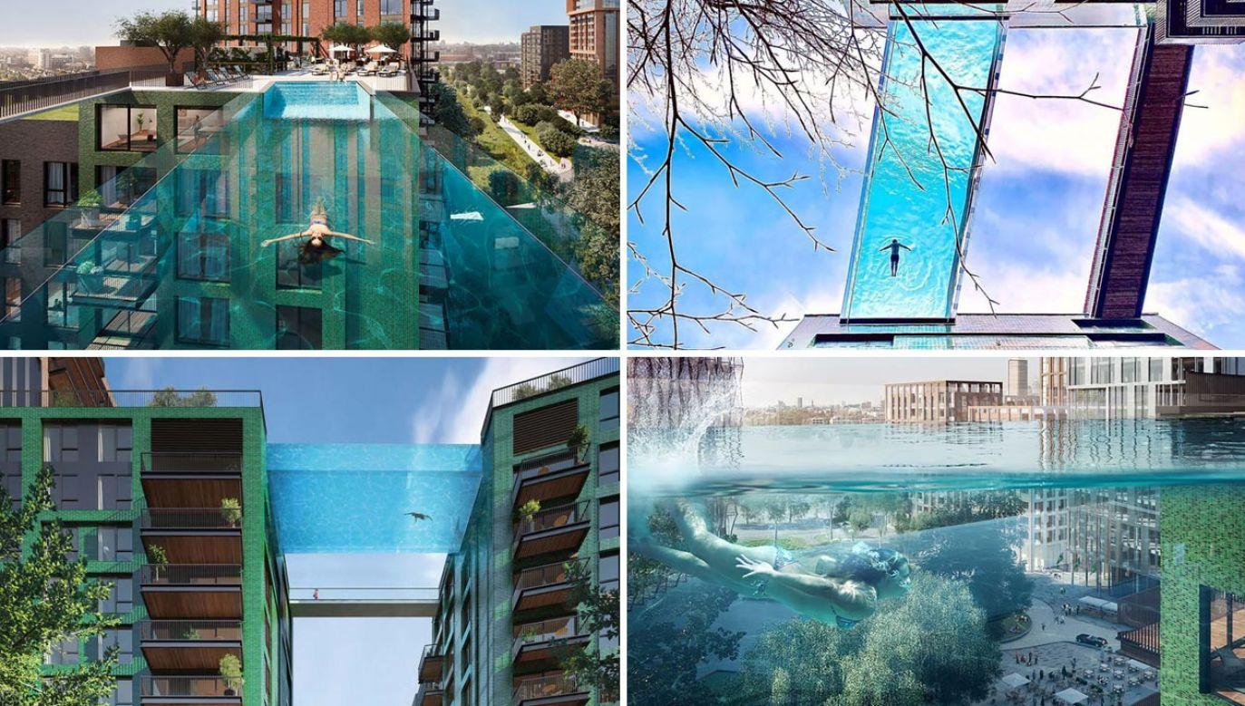 Transparentny basen w Londynie (fot. EcoWorld Ballymore)