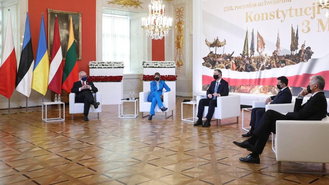 Prezydenci Litwy, Łotwy, Estonii i Ukrainy gościli w Polsce (fot. PAP/Leszek Szymański)