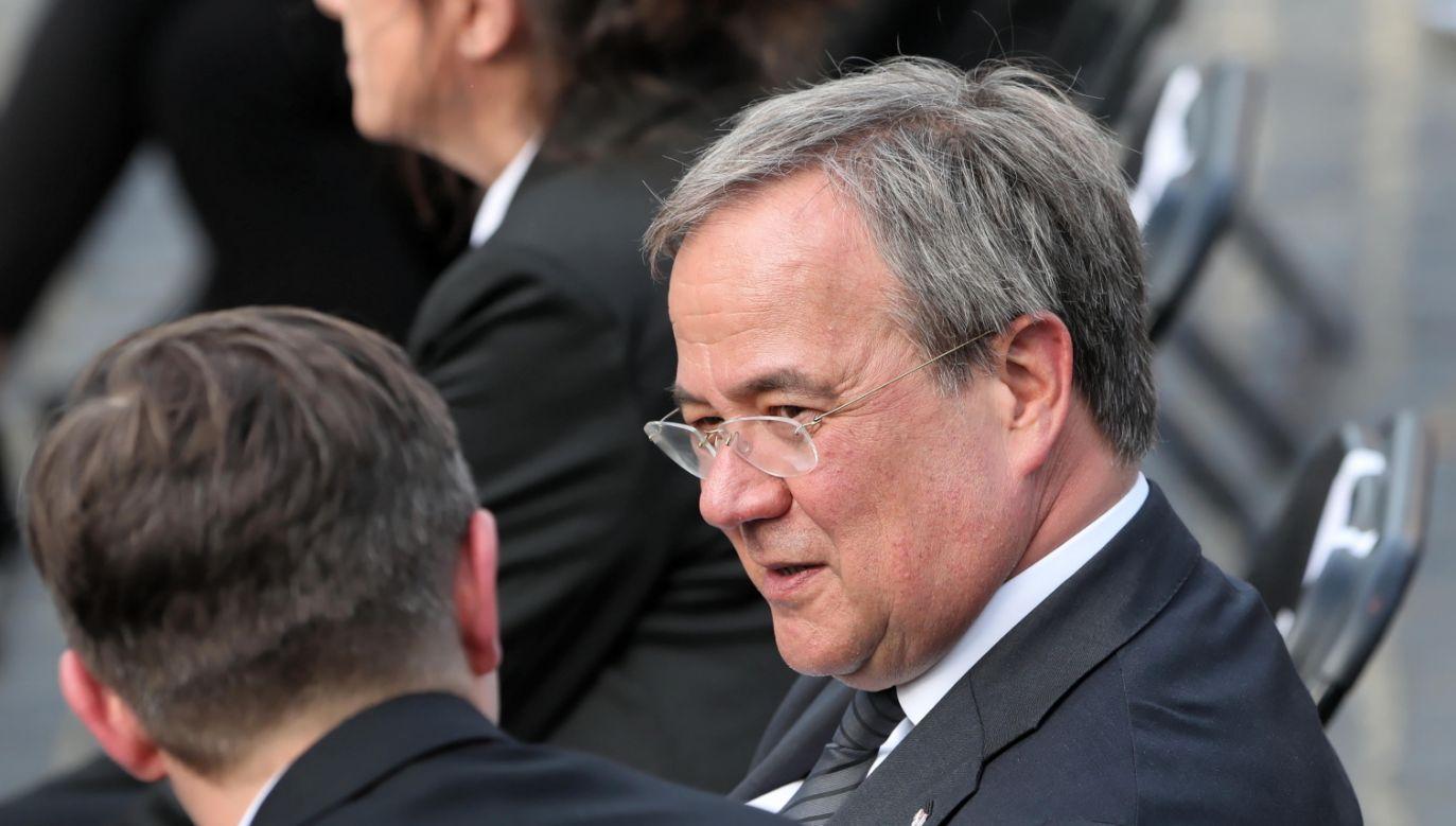 Premier Nadrenii Północnej-Westfalii Armin Laschet (fot. PAP/Wojciech Olkuśnik)
