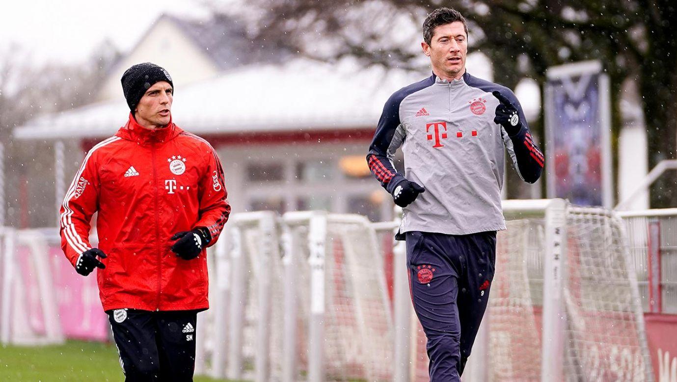 Piłkarz Bayernu Monachium Robert Lewandowski (fot.  R. Can/FC Bayern via Getty Images)