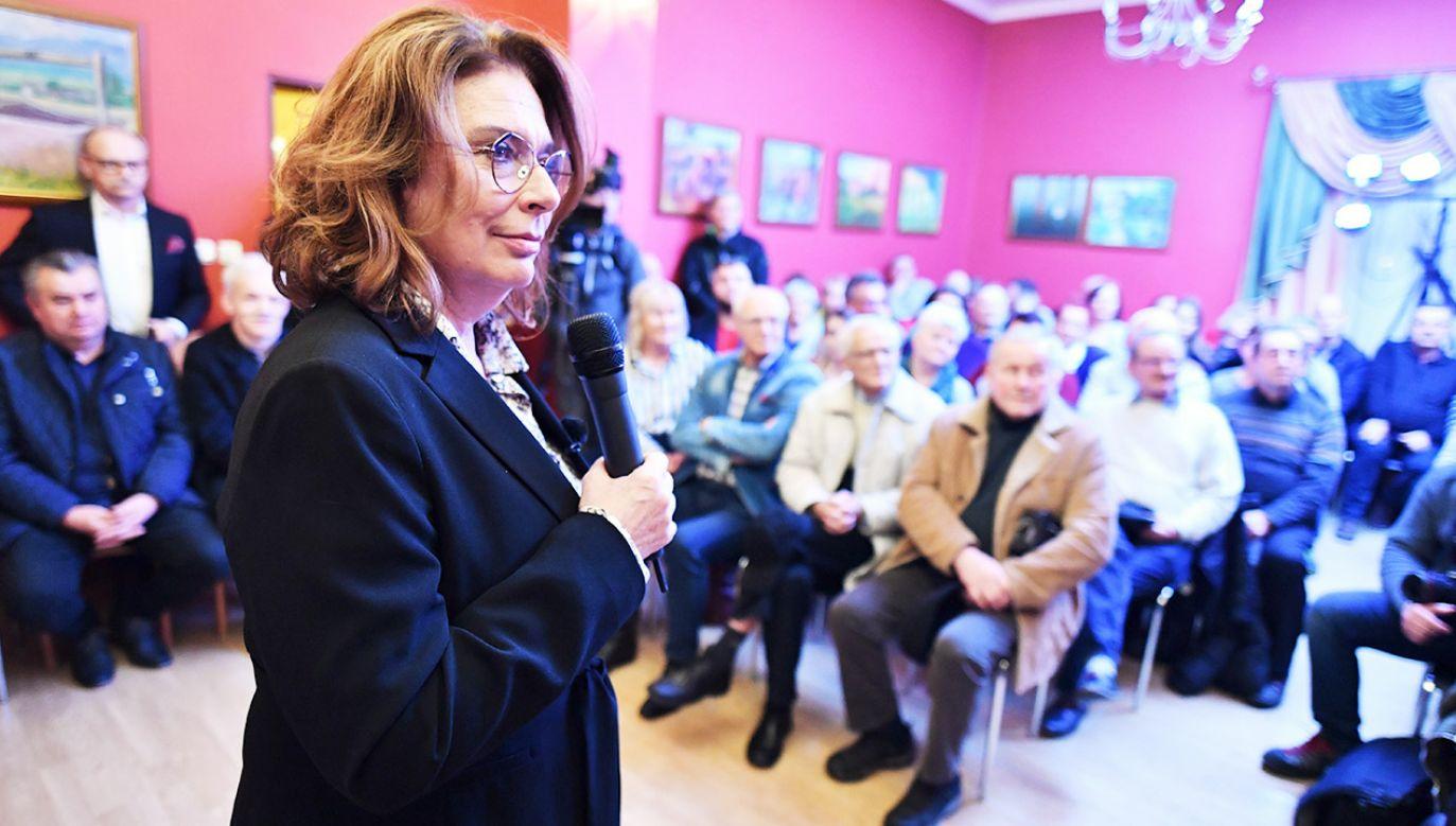 Kandydatka PO na prezydenta Małgorzata Kidawa-Błońska w poniedziałek odwiedziła Płock i Sierpc (fot. PAP/Piotr Polak)