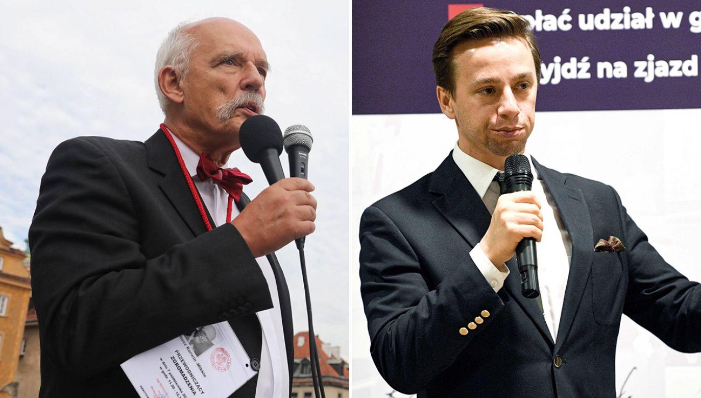 Choć kandydatem na prezydenta Konfederacji ma być Krzysztof Bosak, to nie brakuje głosów, że Janusz Korwin-Mikke również może zdecydować się na start  (fot. arch. PAP/Tomasz Gzell, Darek Delmanowicz)