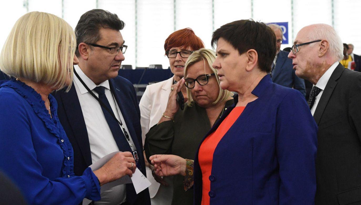 Beata Szydło nie została wybrana na stanowisko szefowej komisji zatrudnienia i spraw społecznych  PE (fot. PAP/Radek Pietruszka)