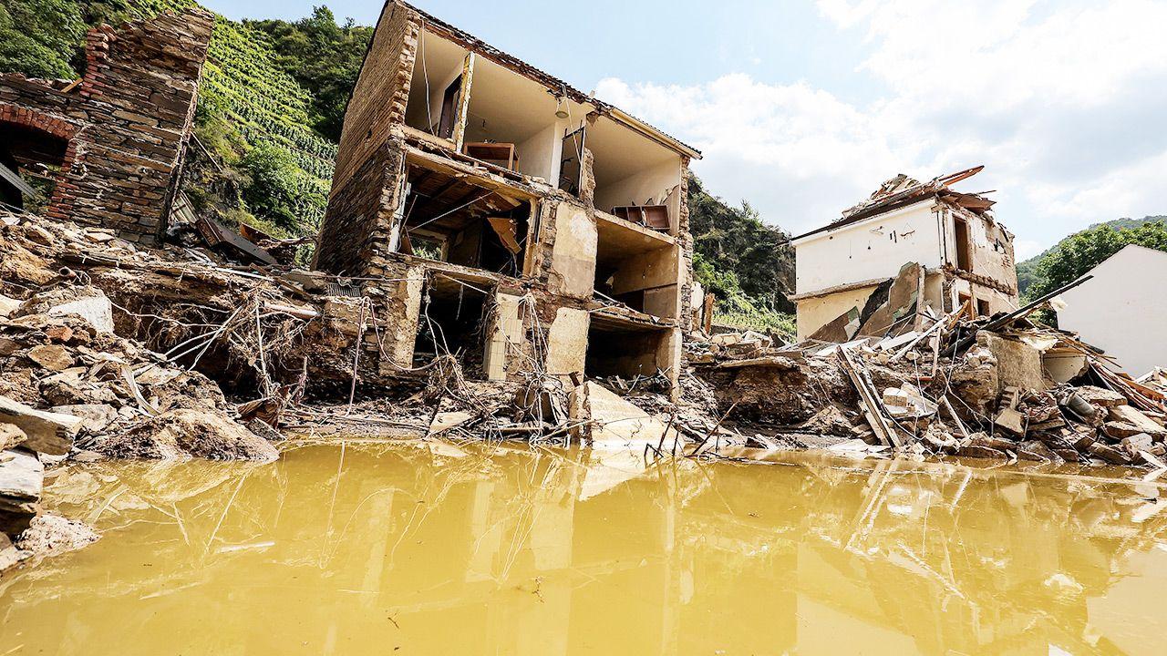W tym roku powódźw Niemczech wywołała jużgigantyczne szkody (fot. PAP/EPA/FRIEDEMANN VOGEL)