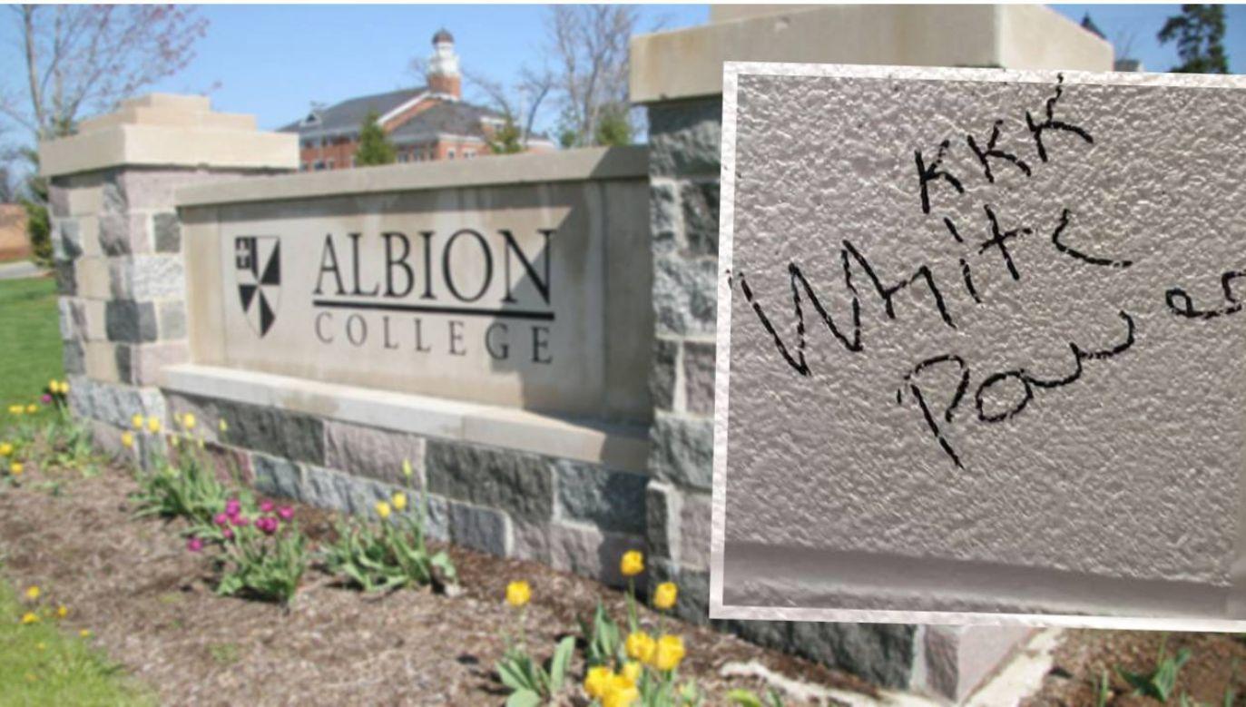 Podejrzanego wytypowano na podstawie nagrań monitoringu (fot. TT/MLive/Albion College)