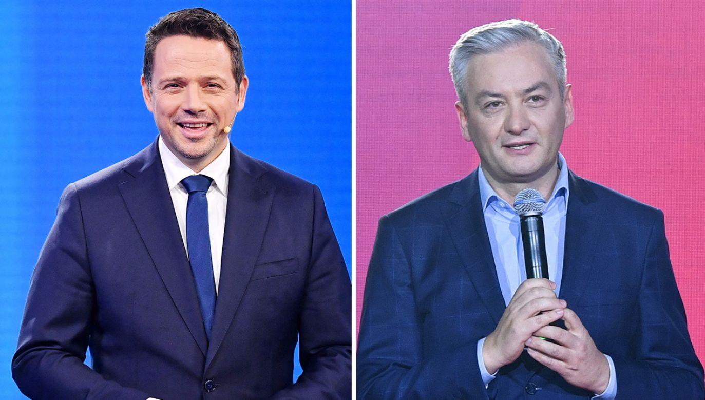 Media donoszą o tajemniczym spotkaniu wiceszefa PO Rafała Trzaskowskiego z liderem Wiosny Robertem Biedroniem (fot. PAP/Radek Pietruszka)