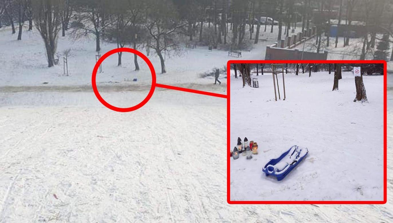 Miejsca tragicznego wypadku (fot. Facebook/Ochota - dzielnica m.st. Warszawy)