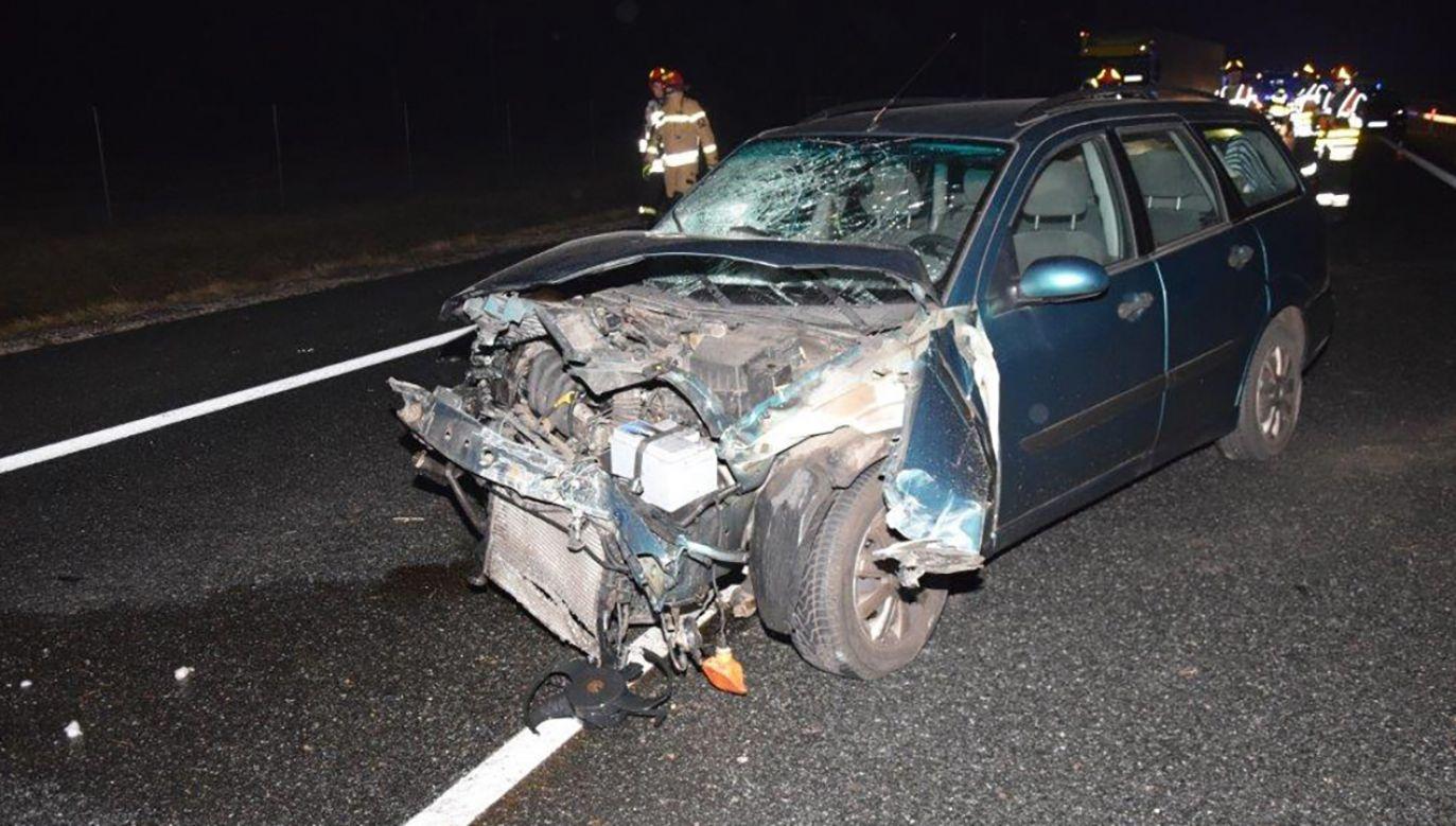52-letni kierowca miał niemal 1,5 promila alkoholu w wydychanym powietrzu (fot. Komendy Wojewódzkiej Policji  w Krakowie)