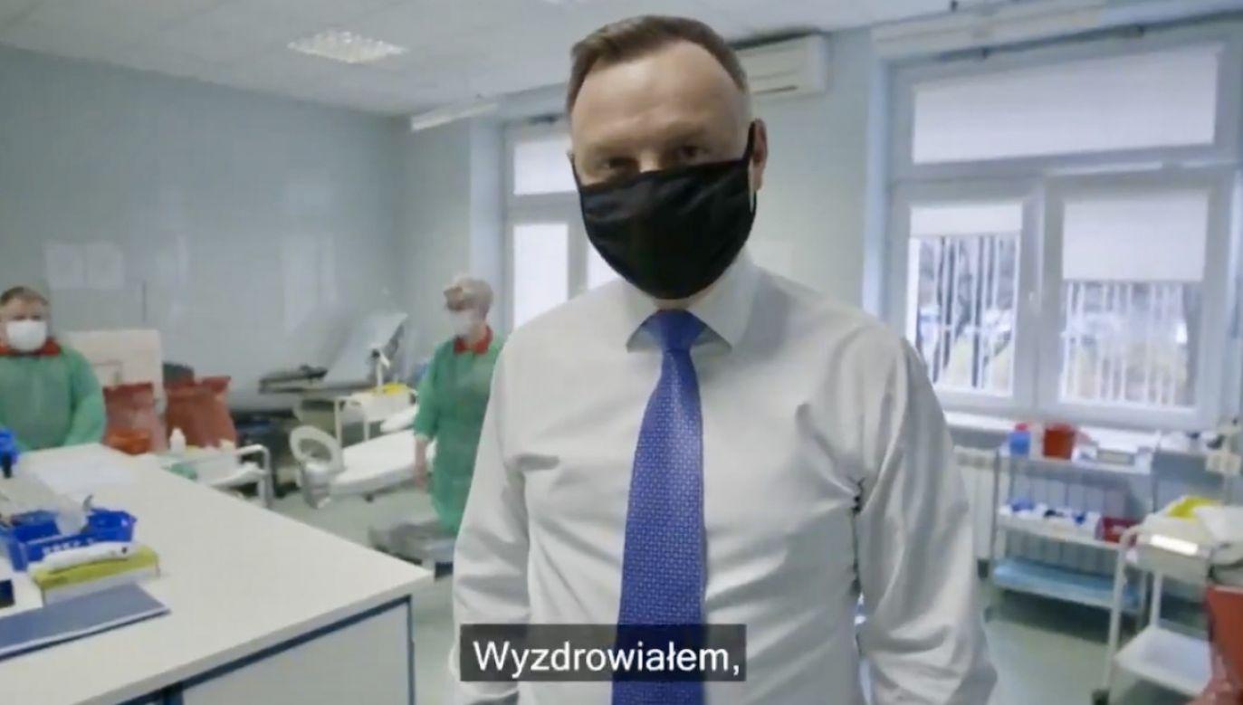 Andrzej Duda opublikował nagranie na Twitterze (fot. tt/@prezydentpl)