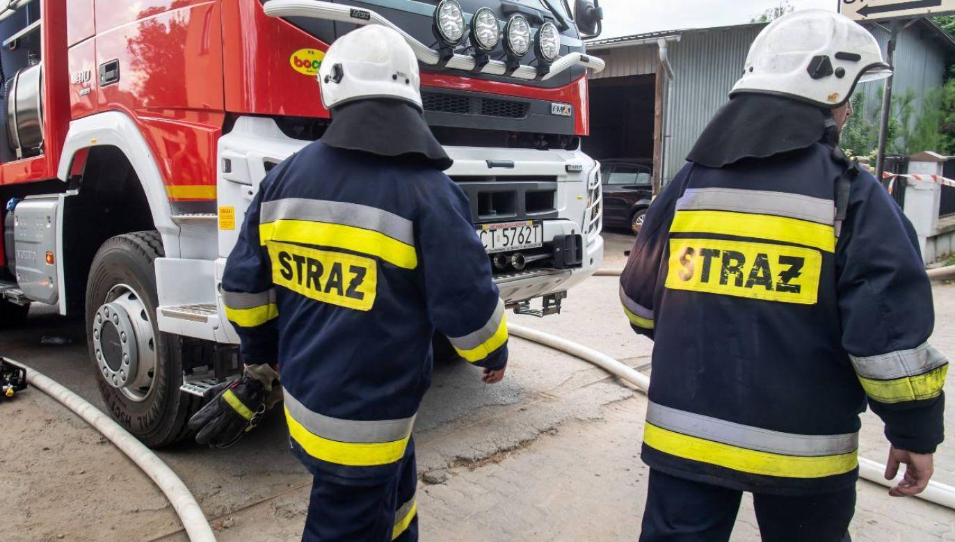 Strażacy interweniowali ponad tysiąc razy (fot. PAP/Tytus Żmijewski)