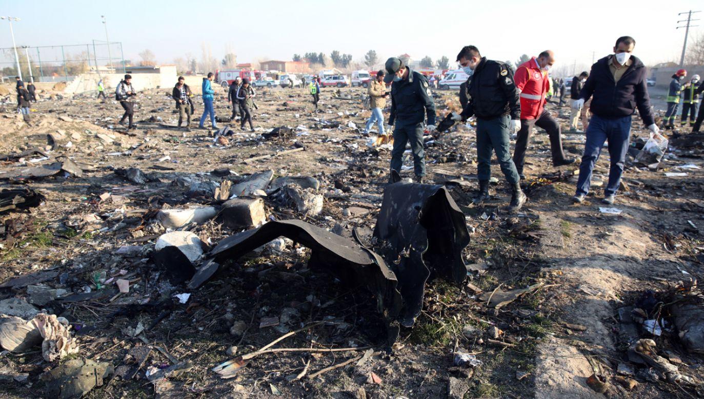 Na pokładzie zestrzelonego przez Iran samolotu, znajdowało się 176 osób  (fot. PAP/EPA/ABEDIN TAHERKENAREH)