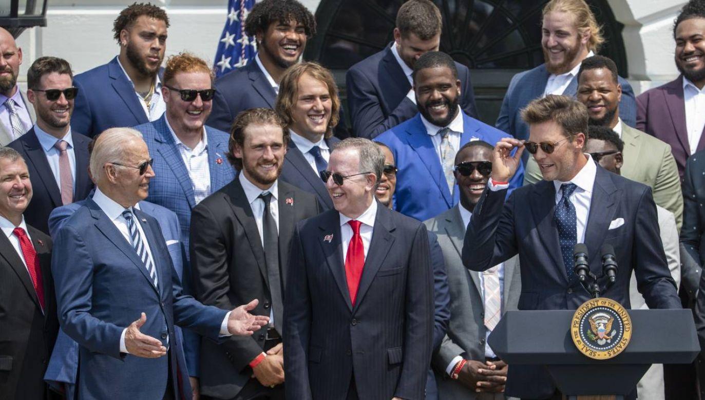Joe Biden zrozumiał aluzję Toma Brady'ego (fot. PAP/EPA/SHAWN THEW)