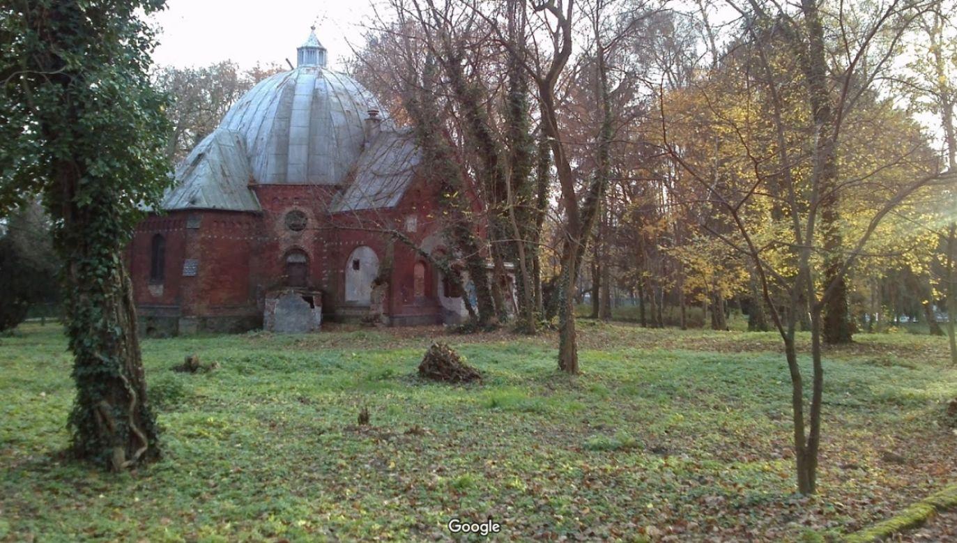 Płyty nagrobne z XIX w. znaleziono na terenie Parku im. Chopina w Szczecinie (fot. źródło: Google Maps)
