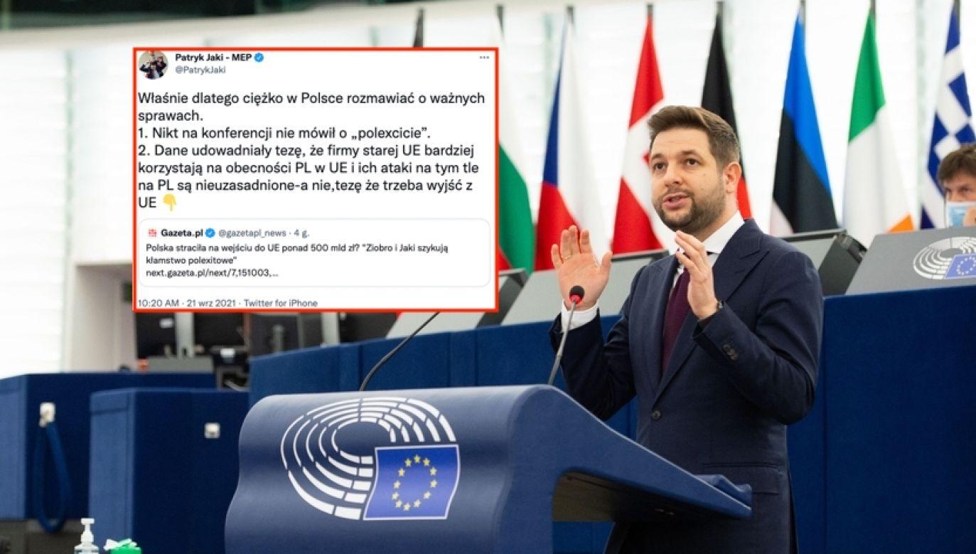 Europoseł Patryk Jaki (fot. Michel CHRISTEN/ European Union 2021/ EP, Twitter.com)