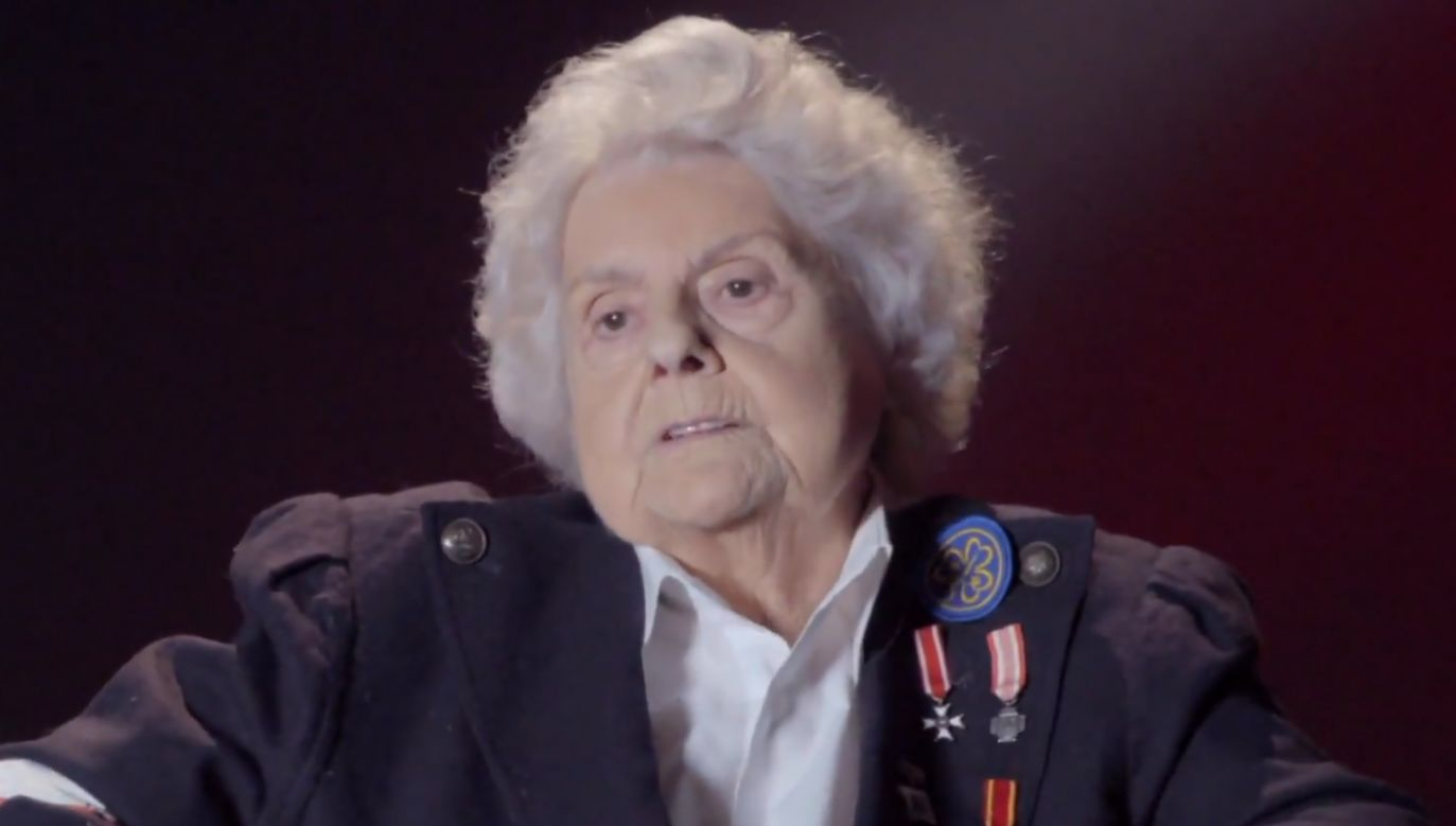 """Anna Poraj-Poleska-Galarda ps. """"Piorun"""" (fot. TVP)"""