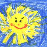 Cieplak namalowany przez Klaudię Kostorz, 5 lat, Ruda Śląska