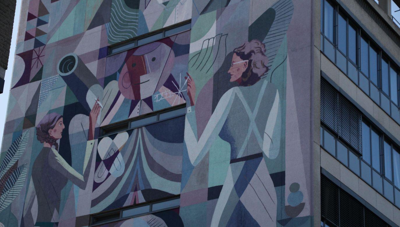 Projekt namalowany został na ścianie urzędu skarbowego, przy ulicy Gasthuisvelden (fot. Adam Gąsior/Wasza Turystyka)