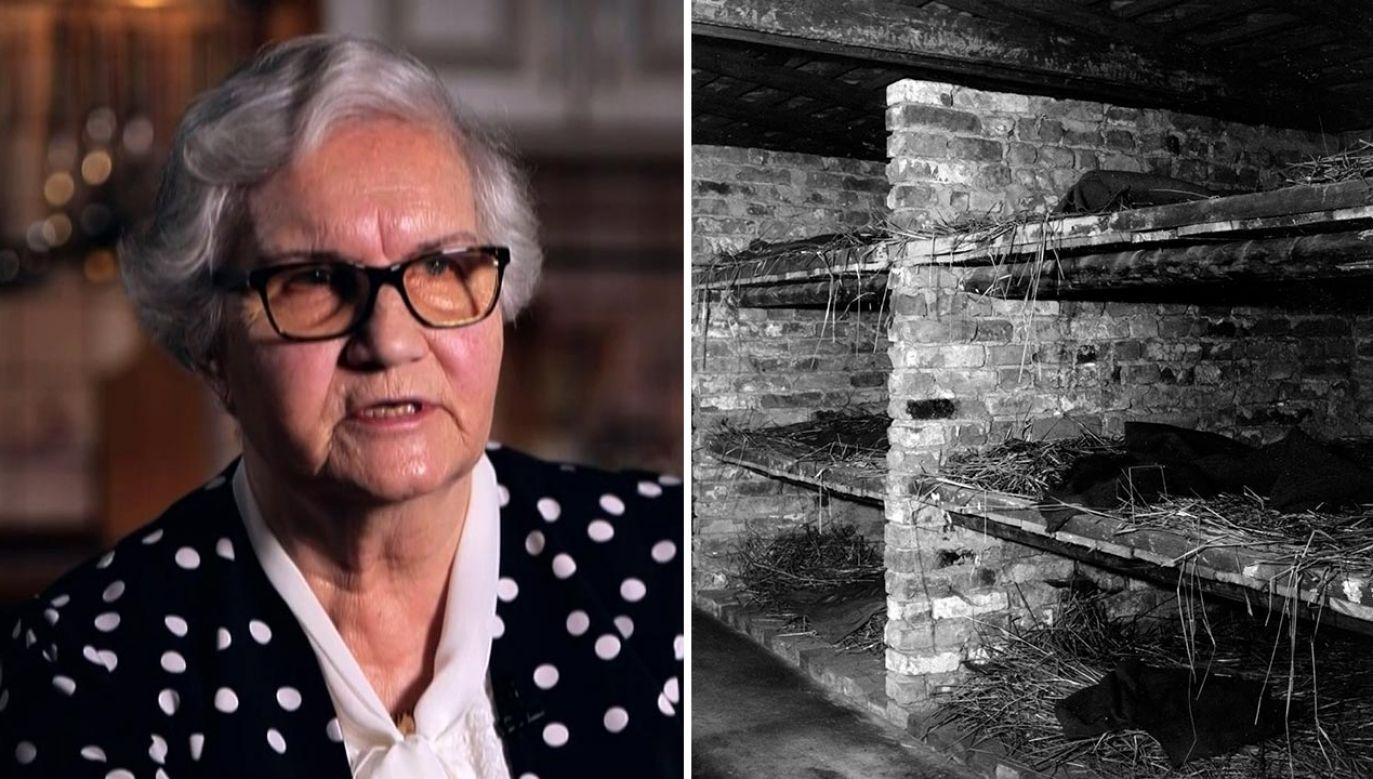 Lidia Maksymowicz trafiła do Auschwitz mając zaledwie 3 lata (fot. TVP Info;Three Lions/Getty Images)