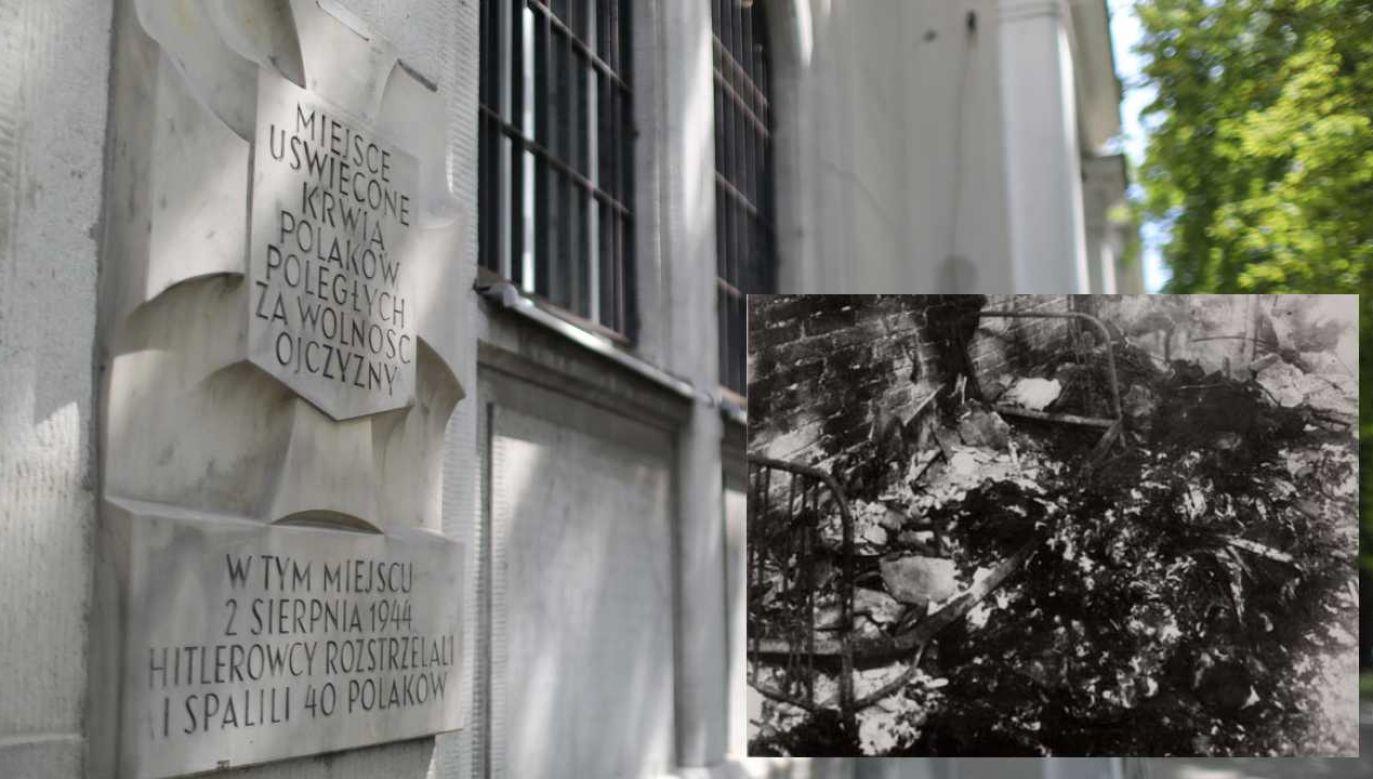 Niemcy zamordowali na terenie klasztoru około 40 osób (fot. tvp.info/łz/IPN)
