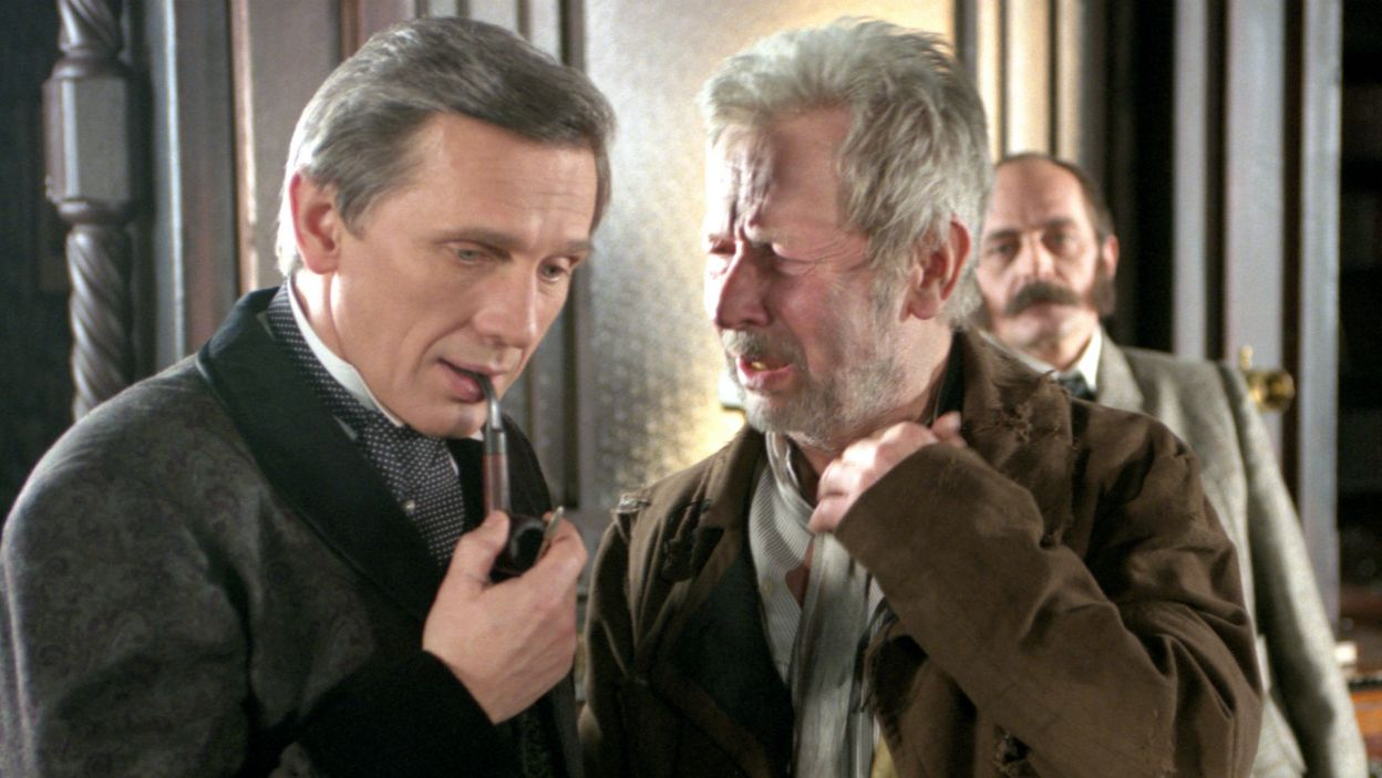 "... Profesor Higgins w ""Pigmalionie"" G. B. Shawa w reż. Macieja Wojtyszki... (fot. TVP)"