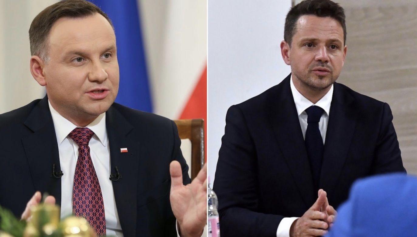 Andrzej Duda i Rafał Trzaskowski mają zupełnie odmienne spojrzenie na Polskę i Unię (fot. KPRP/HANDOUT/PAP/M.Bielecki)