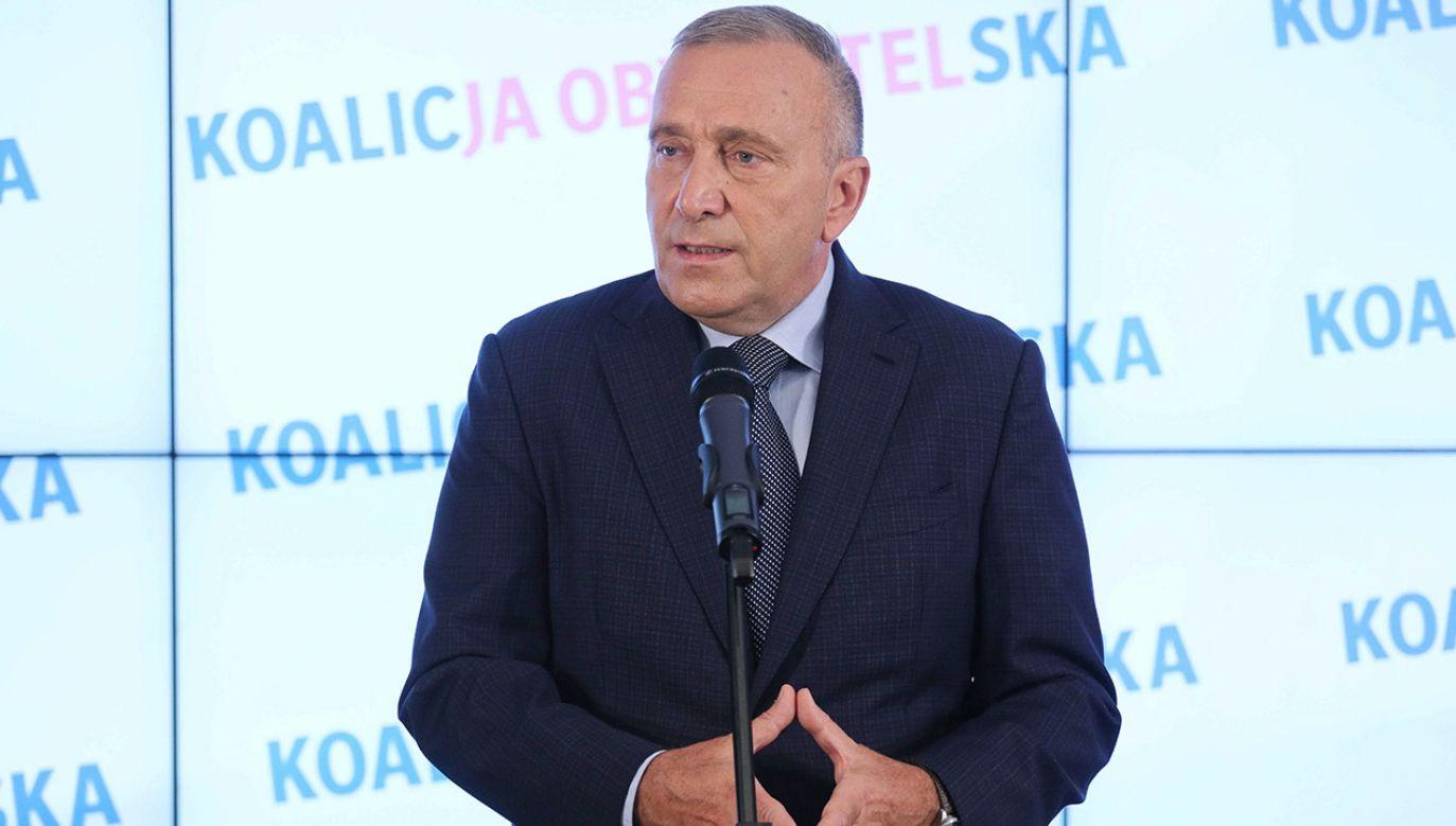 Lider Platformy Obywatelskiej Grzegorz Schetyna (fot. PAP/Paweł Supernak)