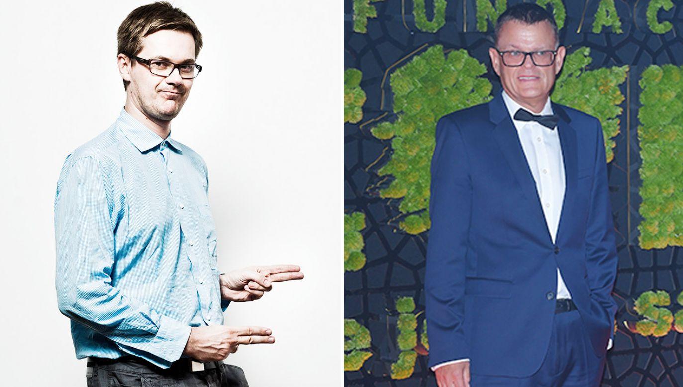 Grzegorz Markowski i Andrzej Morozowski krytykują Lewicę (fot. PAP/Marcin Kaliński; Stach Leszczyński)