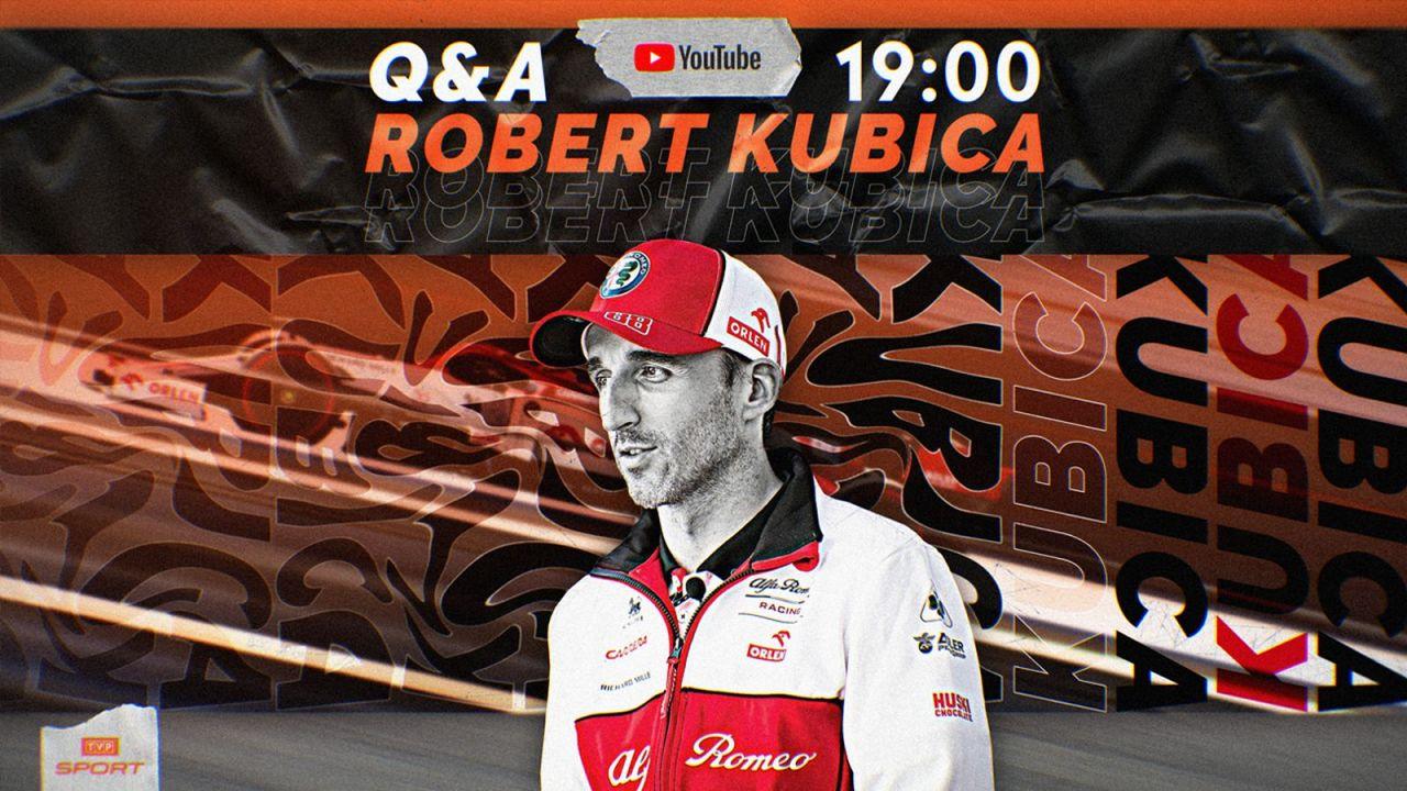 Q&A z Robertem Kubicą na kanale Youtube TVP Sport. [GDZIE, KIEDY, O KTÓREJ GODZINIE] (sport.tvp.pl)