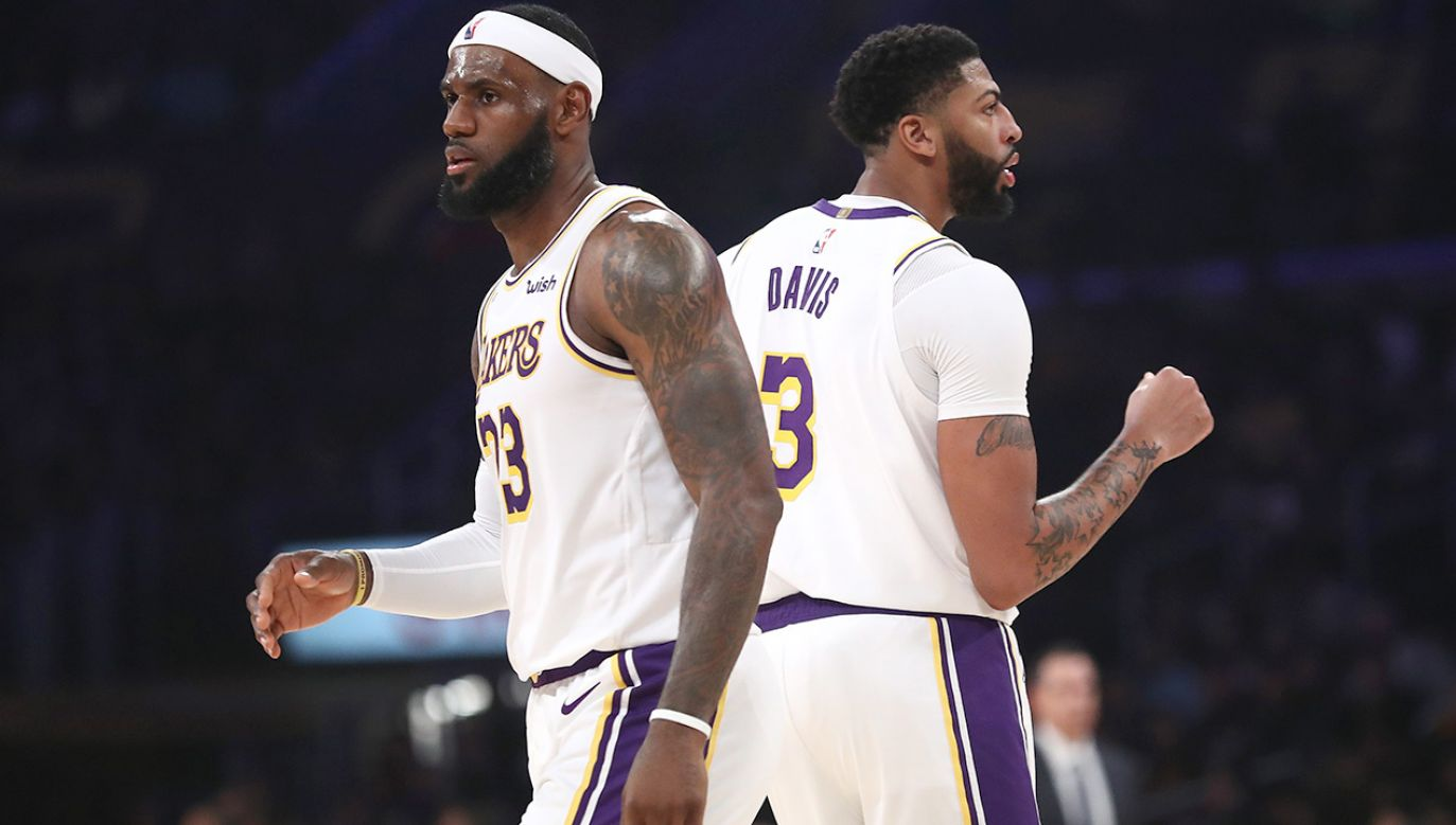 LeBron James i Anthony Davis mają poprowadzić Los Angeles Lakers do triumfu (fot. Sean M. Haffey/Getty Images)